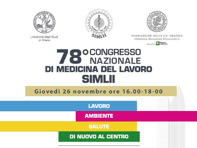 78 congresso nazionale di medicina del lavoro simlii copertina